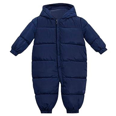 Jiamy Baby Winter Strampler Mit Kapuze Schneeanzuge Overall