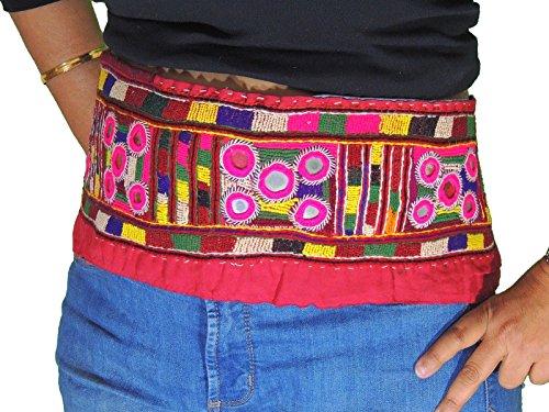 NovaHaat Bohemian Kuchi Banjara Ladies Trim Belt Handmade Embroidered Textile -