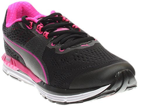 Puma Womens Speed 600 Ignite Top Low Lace Up Running Sneaker Nero-rosa Argento Invecchiato
