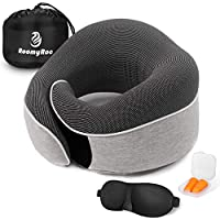 RoomyRoc 100% Pure Memory Foam Neck Travel Pillow