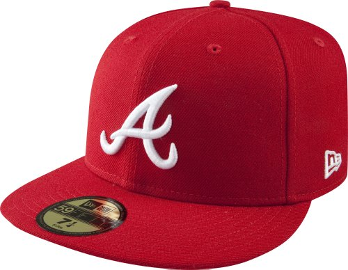 MLB Atlanta Braves Scarlet with White 59FIFTY Fitted Cap, 7 5/8