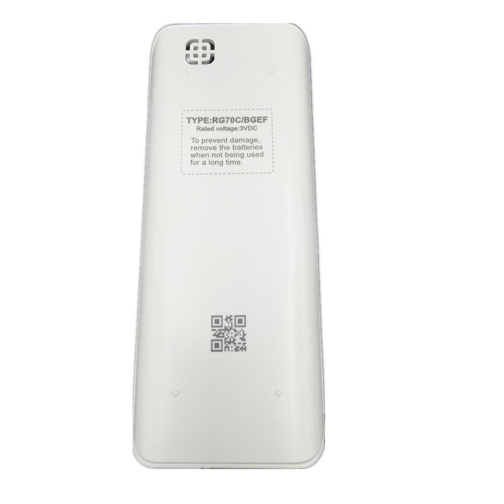 Generic Rg70/C//Bgef t/él/écommande pour Midea Air Conditioner Rg70/a//Bgef Rg70e//Bgef Rg70e1//Bgef Cr170