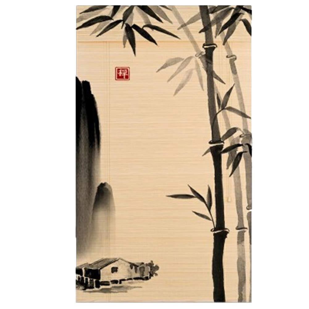 居間/寝室/オフィス/茶部屋のために適した自然なタケドアのカーテン、縦の停電のブラインド (サイズ さいず : 150 x 225 cm (59.1