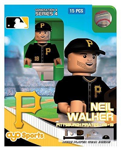 MLB Pittsburgh Pirates Neil Walker Generation 4 Mini Figure, Small, Black