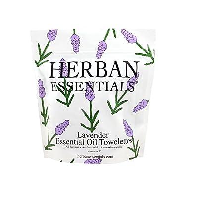 Herban Essentials Mini Towelettes, Lavender