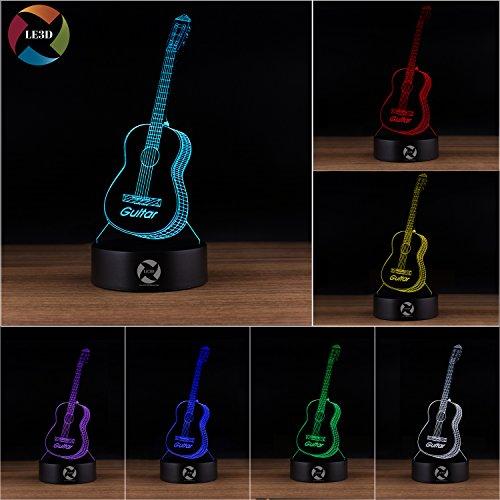 3D Guitar Night Light