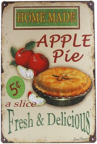 Amazon Com Dingleiever Vintage Home Decoration Accessories Home Made Apple Pie Art Wall Decor Posters Prints