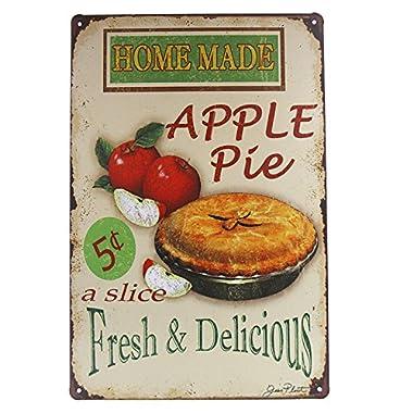 dingleiever-Vintage Home Decoration Accessories Home Made Apple Pie Art Wall Decor