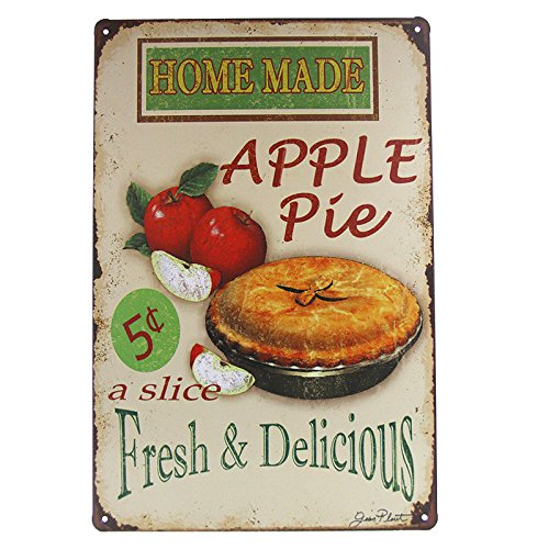 DL-Vintage home decoration accessories Home Made Apple Pie art Wall Decor