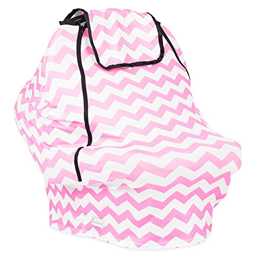 Car Baby Seat Canopy Covers: Universal Infant Carseat Cover for Boys and Girls (Pink)