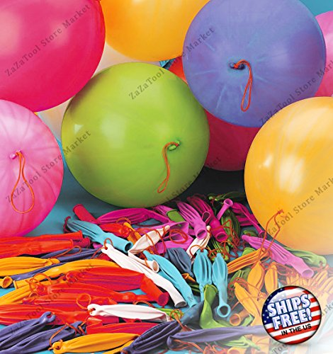 ZaZaTool - 50 Colorful Rubber Punch Balls Balloons Birthday Party Favors - Camping George World St