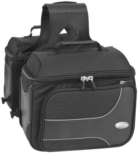 River Road Spectrum Textile Saddlebags - Medium/Black