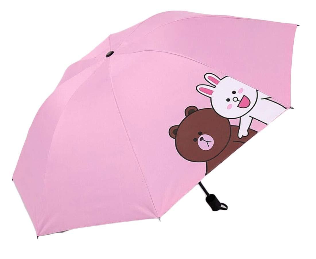 heymoney Mini Travel Sun&rain Umbrellas - Light Compact Parasol UV Protection 7 OS