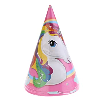 Amazon.com: sunnimix 6 piezas Lovely unicornio fiesta Papel ...