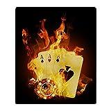 CafePress - Burning Poker Cards . - Soft Fleece Throw Blanket, 50''x60'' Stadium Blanket