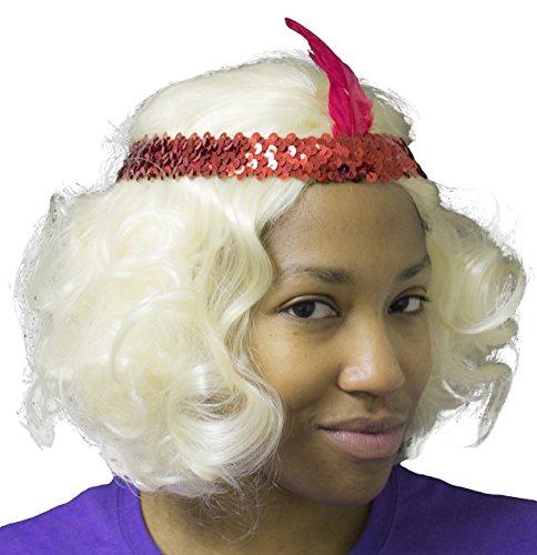 Forum Novelties Roaring 20's Flirty Flapper Blonde Wig with Flapper Headband