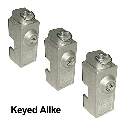 Blaylock DL-80 Cargo Trailer Door Lock - 3-Pack of Keyed Alike Locks