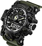 Cheap Men's Watches Military Sports Electronic Waterproof LED Stopwatch Digital Analog Dual Display Outdoor Army Wrist Watch Tactical