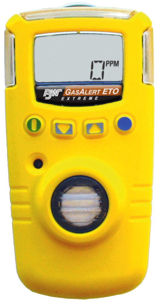 BW Technologies GAXT-E-DL GasAlert Extreme Ethylene Oxide (ETO) (C2H4O) Single Gas Detector, 0-100 ppm Measuring Range, Yellow