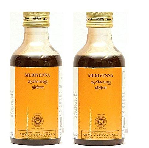 Pack of 2 - Kottakkal Murivenna 200ml + Free Vetiver Bath Scrub