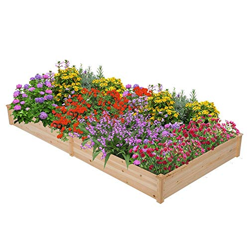 Yaheetech Wood Raised Elevated Garden Bed Planter Box Only $41.39