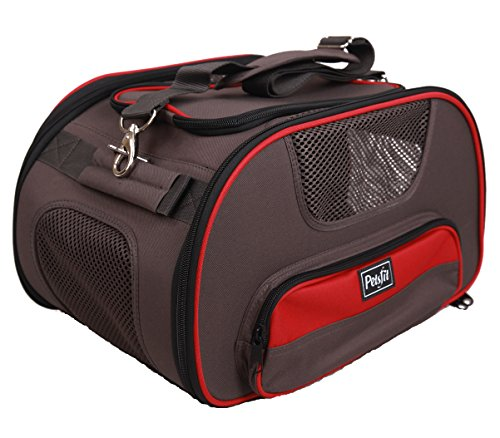 Petsfit 18x12x10 inches Foldable Carrier, Airline-Approved Pet Carrier Soft-sided