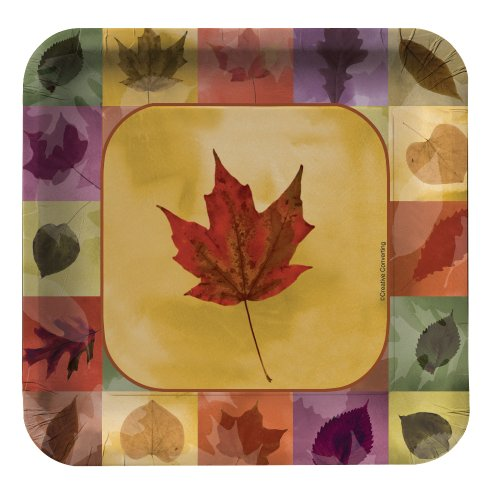 - Creative Converting 8 Count Mosaic Leaves Square Paper Dessert Plates
