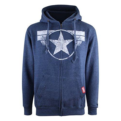 Logo nbsp;capuche Sweat Blue Navy Marvel Cap À Homme heather IT45qw