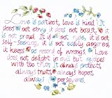 Janlynn Stamped Cross Stitch Kit, Love Is Patient