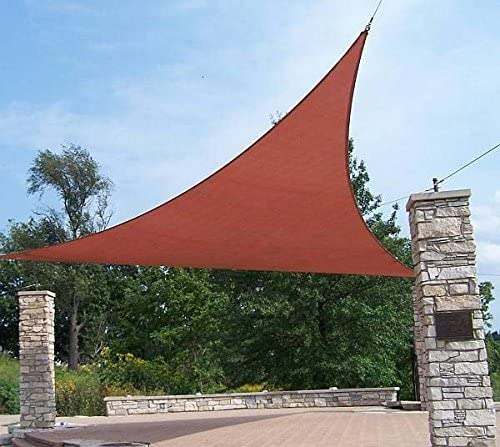 Quictent 18 x 18 x 18 ft Triangle 185GSM Sun Shade Sail Canopy 98 UV-Blocked