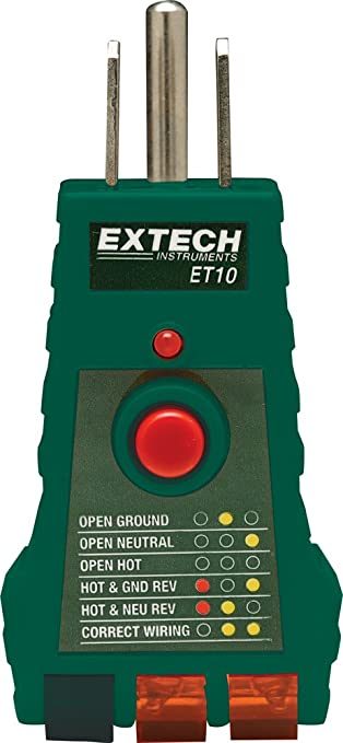 Extech et10 gfci receptacle tester multitools amazon extech et10 gfci receptacle tester sciox Image collections