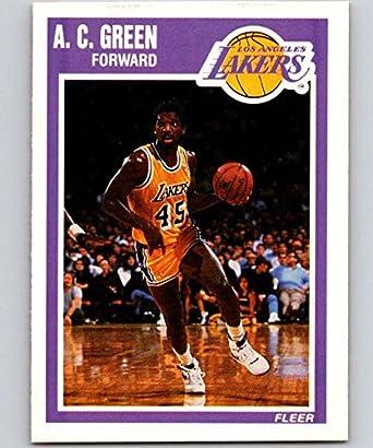 32ef9ca0a96 Amazon.com: 1989-90 Fleer #76 A.C. Green Lakers NBA Baseketball ...