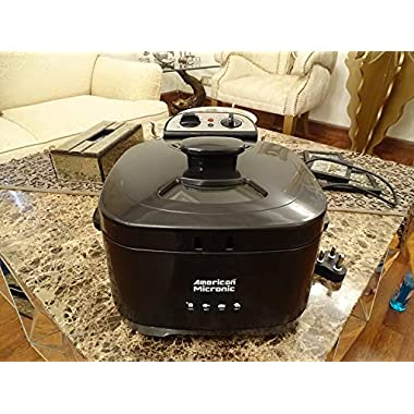 American Micronic AMI-DFP-30LDx-3 Litre Electric Deep Fryer with Timer & Variable Temperature Control, Black 9