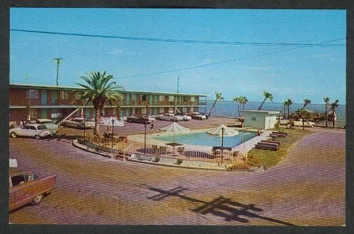 Bungalow Motel 613 Central Beach Blvd Biloxi Ms Postcard 1950s At