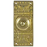 Victorian Vintage REPLICA Door BELL BUTTON electric solid brass hardware old home