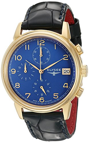 ELYSEE Men's 80552 Classic-Edition Analog Display Quartz Blue Watch