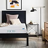 Lucid 6 Inch Memory Foam Mattress, Dual-Layered, CertiPUR-US Certified, Firm Feel, Twin Size