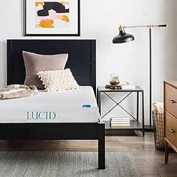 lucid 6 inch memory foam mattress duallayered certipurus certified