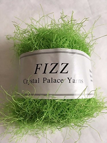 Crystal Palace Fizz #7306 Electric Lime Green Eyelash Yarn (Green Eyelash Yarn Lime)