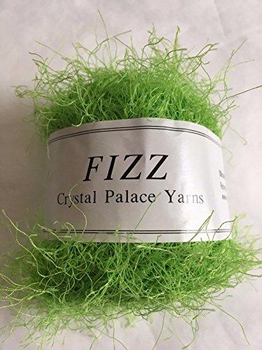 Crystal Palace Fizz #7306 Electric Lime Green Eyelash Yarn (Green Lime Yarn Eyelash)