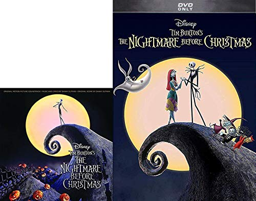 This Is Halloween DVD Bundle: Nightmare Before Christmas Musical Pack the Pumpkin King from Halloweentown & Tim Burton Movie & CD Soundtrack songs]()