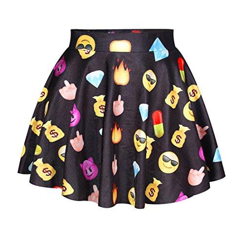 de Dshabill Jupe Imprim Shorts Plage Emoji Femme Fille 6 Soire YICHUN Jupon de Mini Court Skirt Jupe Jupe Oq0aOZwtx