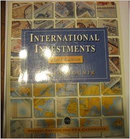 International Investments (3rd Edition): Bruno Solnik