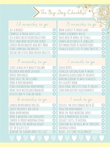 Rachel Ellen Designs Duck Egg Blue Wedding Planner & Book of 180
