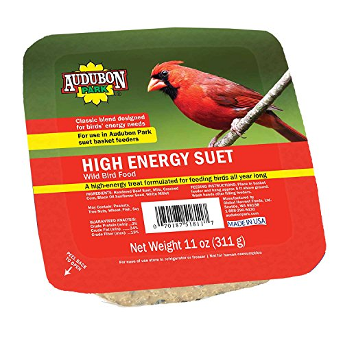 Audubon Park 13065 High Energy Suet Cake Wild Bird Food, 11-Ounces - Energy Suet Cake