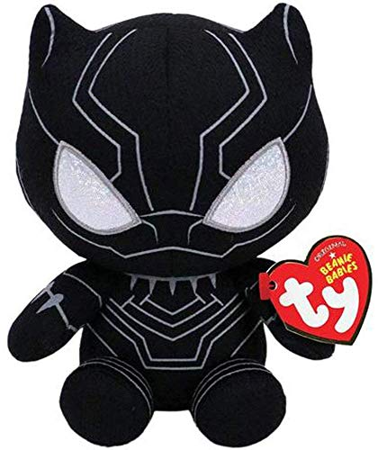 TY Beanie Baby Plush - Black Panther (Marvel) - Blue Funchop with Purchase ()