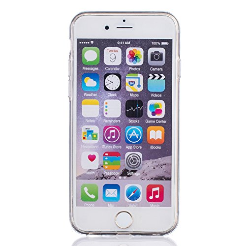 Funda para iPhone 6 6S, funda de silicona transparente para iPhone 6 6S, iPhone 6 6S Case Cover Skin Shell Carcasa Funda, Ukayfe caso de la cubierta de la caja protectora del caso de goma Ultra Delgad Fiore 2#
