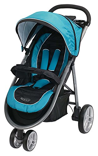 Graco Aire3 Click Connect Stroller, Poseidon (3 Wheel Strollers compare prices)