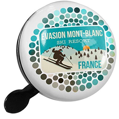 - NEONBLOND Bike Bell テvasion Mont-Blanc Ski Resort - France Ski Resort Scooter or Bicycle Horn