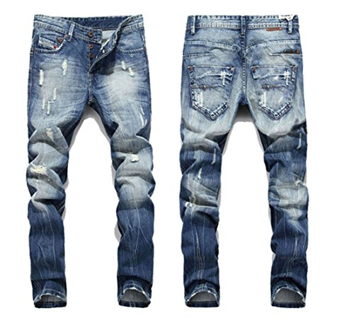 Eyer-New-Classic-Men-Stylish-Designed-Straight-Slim-Fit-Trousers-Casual-Jean-Pants